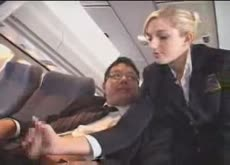 Helping hand on airplane