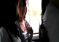 Dickflash for 2 Teens on Bus