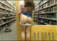 squirting on the library