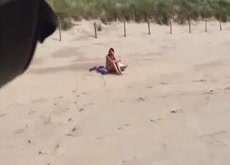 Caught Bathing Topless at Public Beach