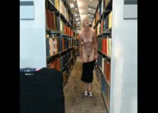 Hot blonde naked in school libary